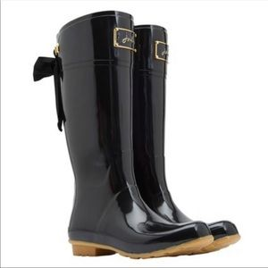 Joules Evedon Wellies Black with Bow SAMPLE